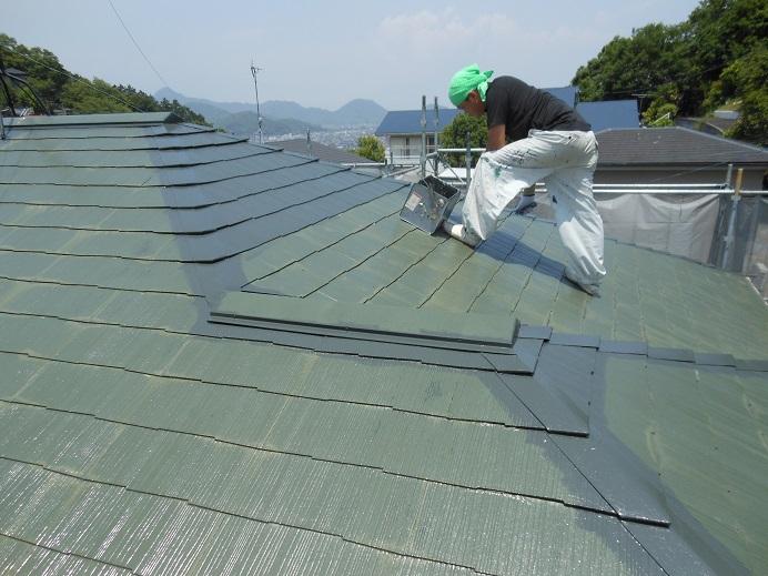 伊豆の国市I様邸屋根塗装